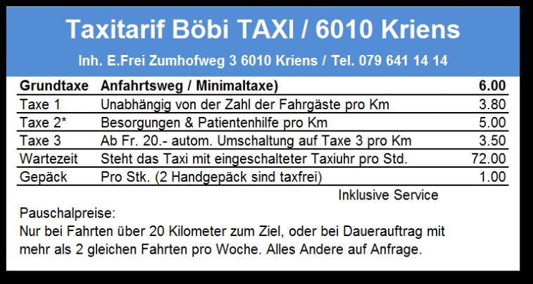 taxitarif b bi taxi. Black Bedroom Furniture Sets. Home Design Ideas